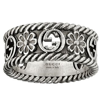 Gucci Interlocking G Flower Silver Ring - Size M - Product number 5254752