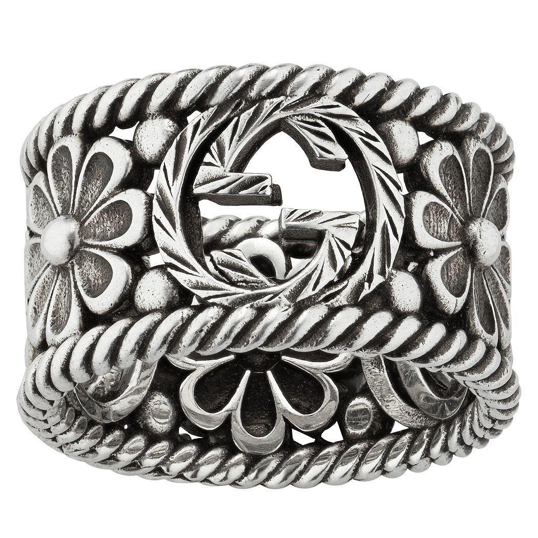 Gucci Interlocking G Flower Ring - Size P - Product number 5254787