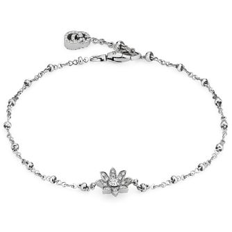 Gucci Ladies' 18ct White Gold Flora Diamond Bracelet - Product number 5254833