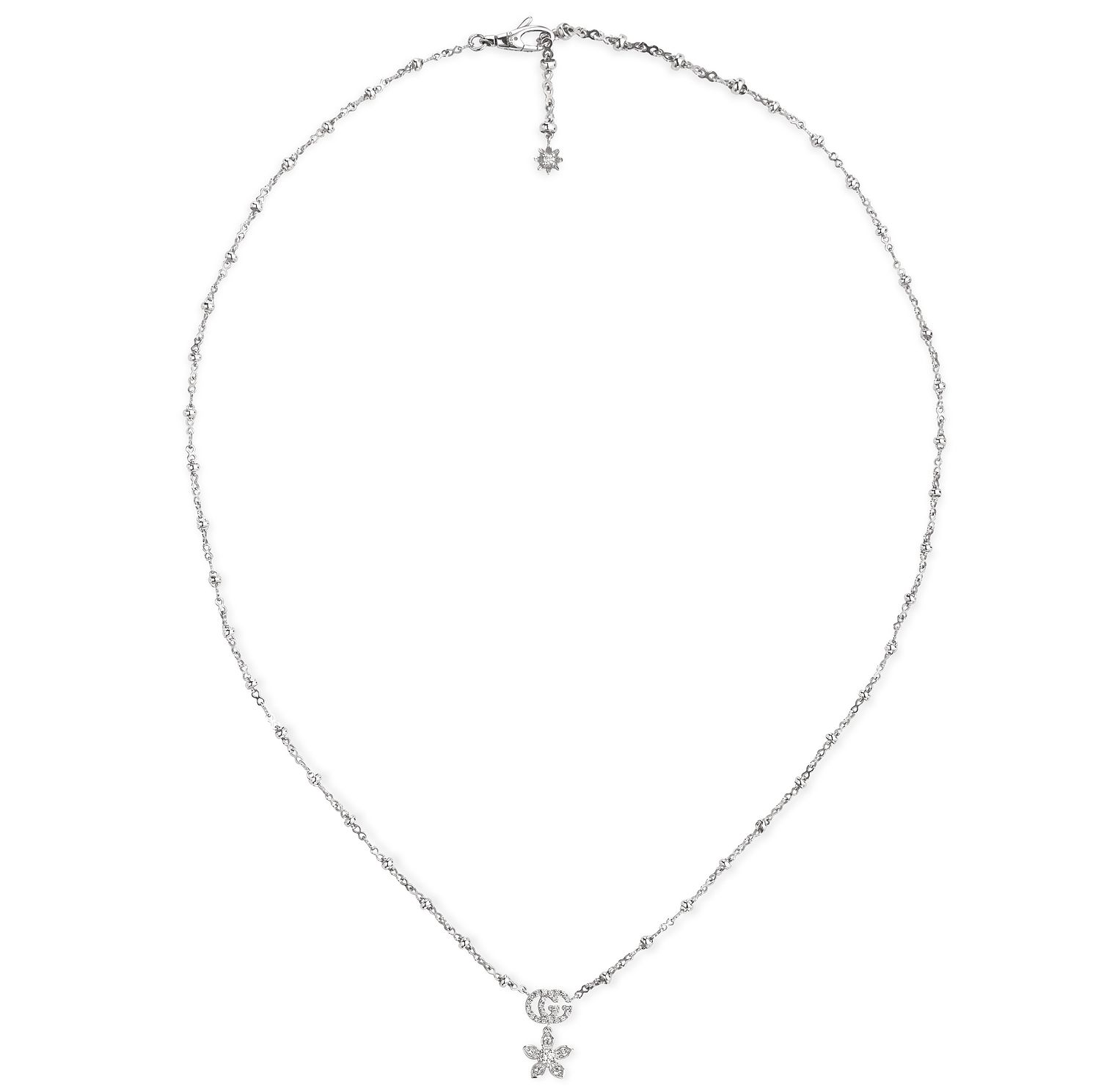 Gucci Flora 18ct White Gold Diamond Pendant - Product number 5254868