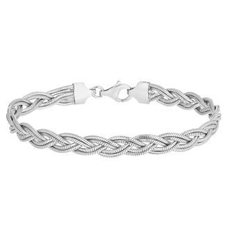 Silver Polished Double Weave Bracelet - Product number 5257034