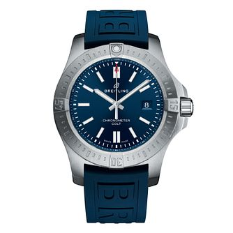 Breitling Colt Automatic Blue Rubber Strap Watch - Product number 5257212