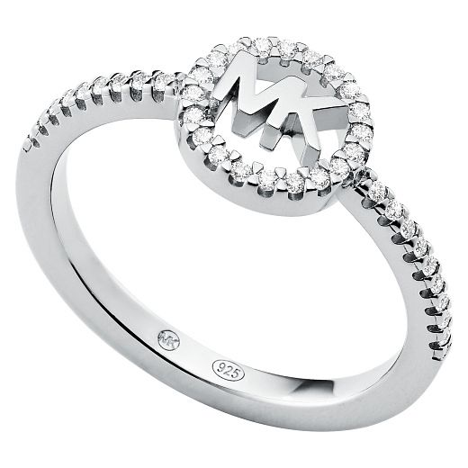 Michael Kors Love Silver Cubic Zirconia Ring - P - Product number 5257972
