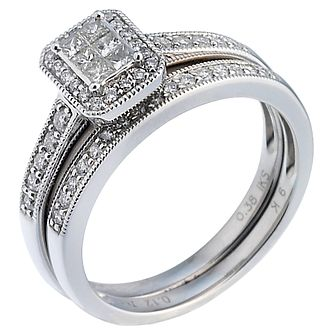 Perfect Fit Platinum 1/2ct Diamond Bridal Set - Product number 5259002