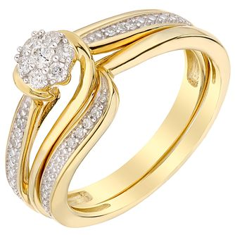 Perfect Fit 18ct Yellow Gold Diamond Bridal Set - Product number 5259436