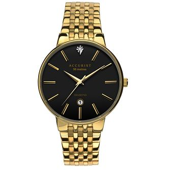 Accurist Men's Gold Plated Bracelet Watch - Product number 5266971