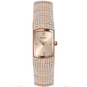 Seksy Ladies' Rose Gold-Plated Bracelet Watch - Product number 5267528