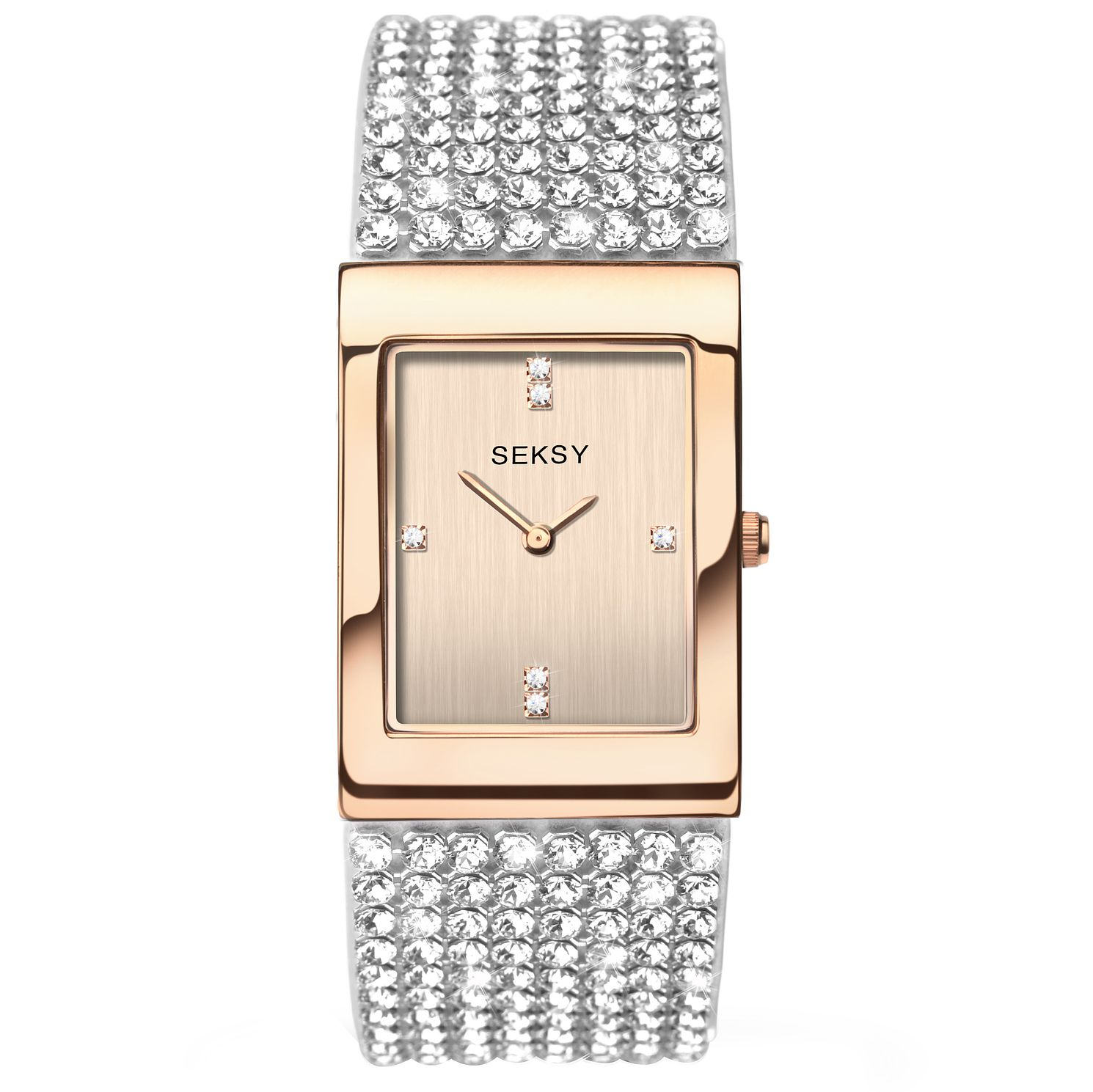 Seksy Ladies' Rose Gold-Plated Bracelet Watch - Product number 5267544