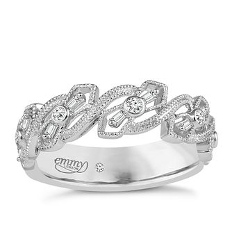 Emmy London Platinum 0.12 Carat Diamond Ring - Product number 5270804
