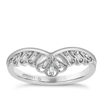 Emmy London 18ct White Gold Baguette Diamond Set Ring - Product number 5271614