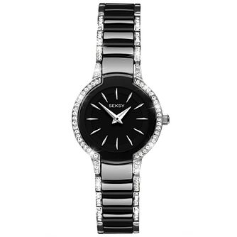 Seksy Ladies' Entice Swarovski Black Ceramic Watch - Product number 5272424