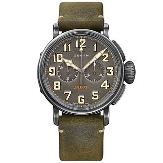 Zenith Cafe Racer Pilot Men's Stainless Steel Strap Watch - Product number 5275784