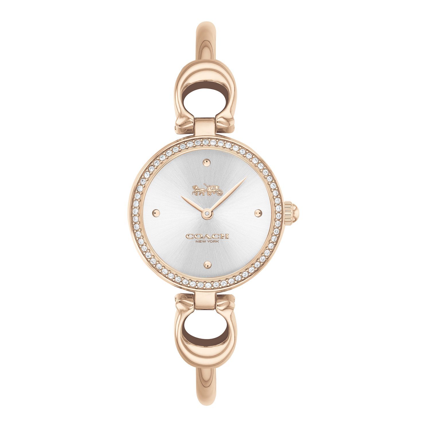 Coach Park Crystal Ladies' Rose Gold Tone Bracelet Watch - Product number 5275903