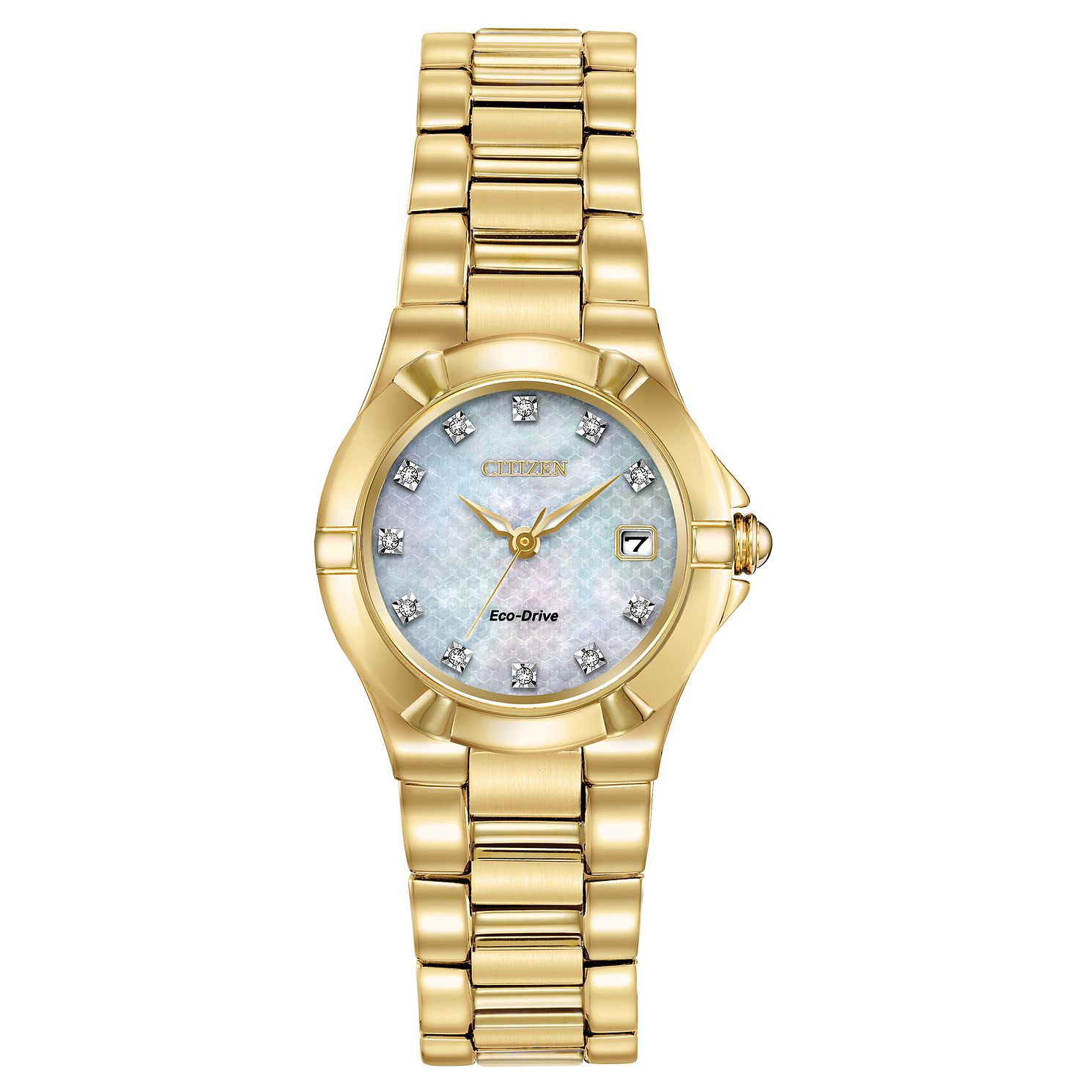 Citizen Eco-Drive Diamond Ladies' Gold Tone Bracelet Watch - Product number 5276349