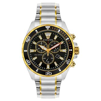 Citizen Eco-Drive Chronograph Men's Two Tone Bracelet Watch - Product number 5276365
