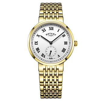 Rotary Gents Gold Plated Stainless Steel Bracelet Watch - Product number 5276888