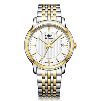 Rotary Men's Two Tone Stainless Steel Bracelet Watch - Product number 5276942