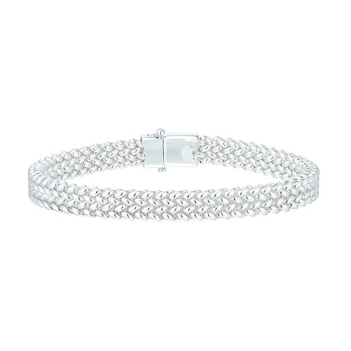 Sterling Silver Woven Bracelet - Product number 5277310