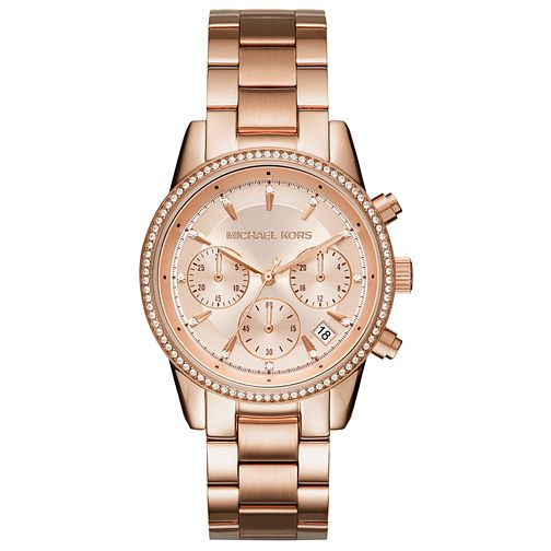 Michael Kors Ladies' Rose Gold Tone Bracelet Watch - Product number 5278414