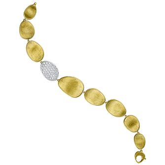Marco Bicego 18ct Yellow Gold Lunaria 67Pt Diamond Bracelet - Product number 5279771