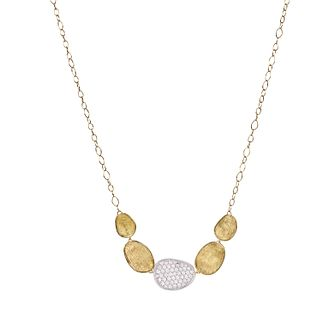 Marco Bicego 18ct Yellow Gold Lunaria 0.53ct Diamond Necklet - Product number 5279798