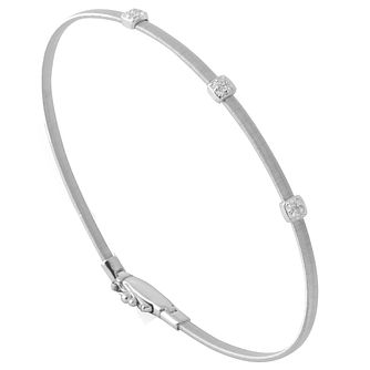 Marco Bicego 18ct White Gold Masai Diamond Bangle - Product number 5279828