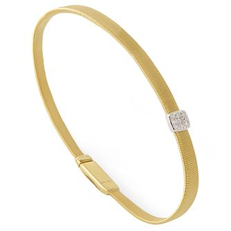 Marco Bicego 18ct Yellow Gold Masai Diamond Bangle - Product number 5279836