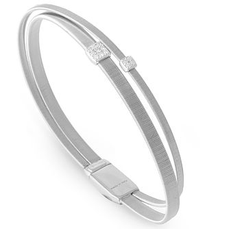 Marco Bicego 18ct White Gold Masai 0.10ct Diamond Bangle - Product number 5279852