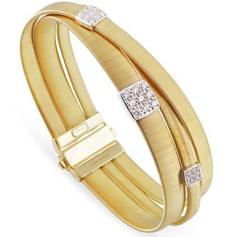 Marco Bicego 18ct Yellow Gold Masai 0.43ct Diamond Bangle - Product number 5279860