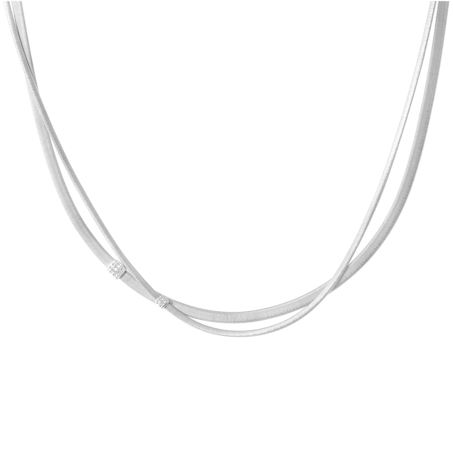 Marco Bicego 18ct White Gold Masai 0.10ct Diamond Necklace - Product number 5279887