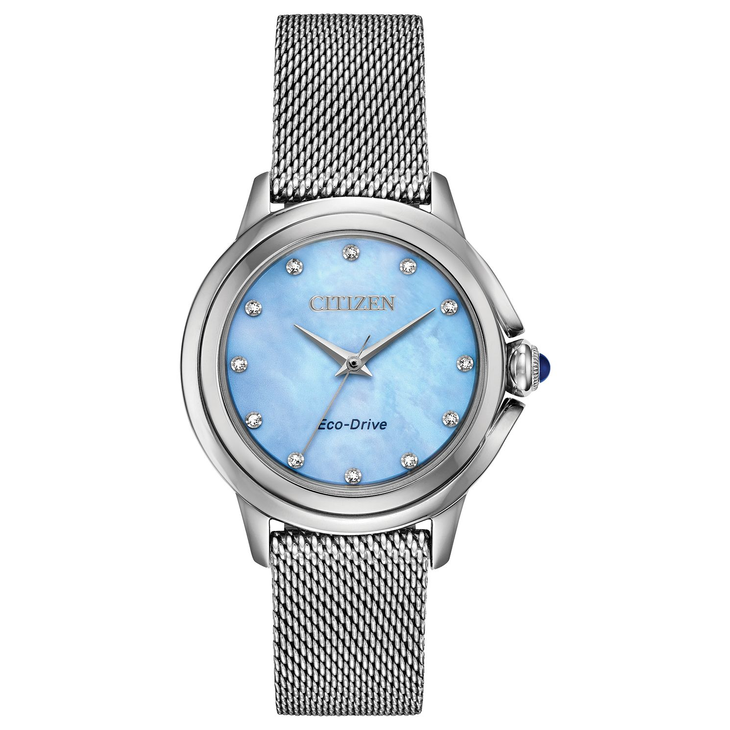 Citizen Eco-Drive Ceci Diamond Ladies' Mesh Bracelet Watch - Product number 5282101