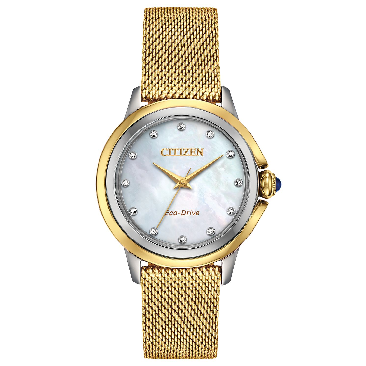 Citizen Eco-Drive Ceci Diamond Ladies' Mesh Bracelet Watch - Product number 5282128