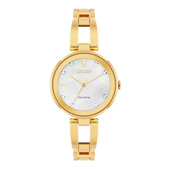 Citizen Axiom Diamond Ladies Gold Tone Bracelet Watch - Product number 5282179