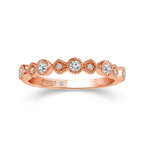 Emmy London 18ct Rose Gold 0.15 Carat Diamond Eternity Ring - Product number 5284074