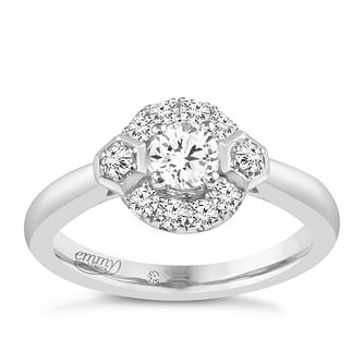 Emmy London 9ct White Gold 0.40 Carat Diamond Solitaire Ring - Product number 5287804