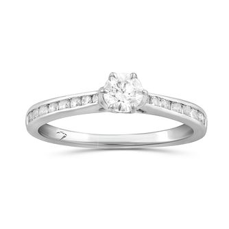 Arctic Light Platinum 0.50ct Total Diamond Solitaire Ring - Product number 5288932