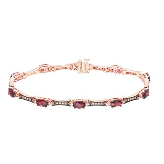 Le Vian 14ct Strawberry Gold Garnet 0.44ct Diamond Bracelet - Product number 5289017