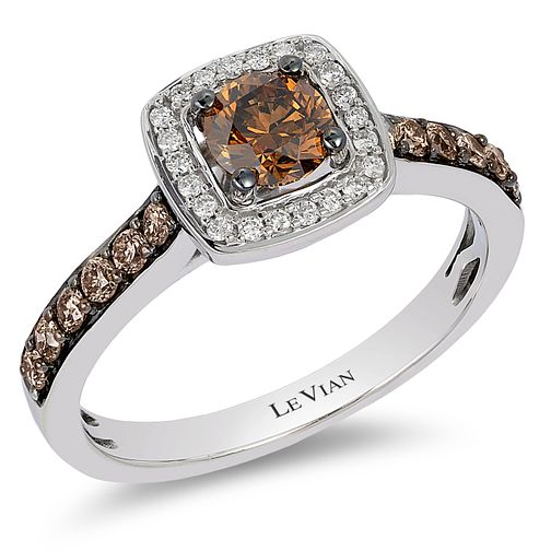 Le Vian 14ct Vanilla Gold Chocolate & Vanilla Diamond ring - Product number 5289130