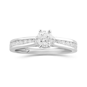 Arctic Light Platinum 3/4ct Diamond Solitaire Ring - Product number 5289793
