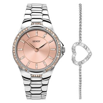 Seksy Ladies' Steel Bracelet Watch & Bracelet Set - Product number 5291879