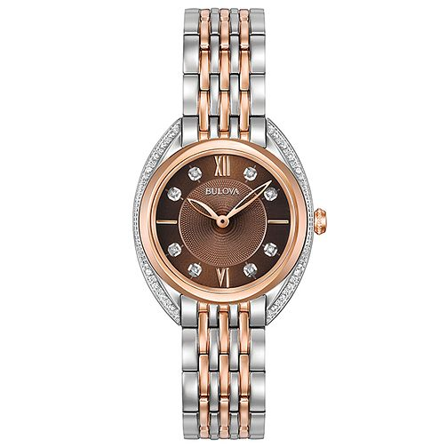 Bulova Ladies' Diamonds Two Colour Steel Bracelet Watch - Product number 5293146