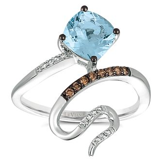 Le Vian 14ct Vanilla Gold Aquamarine & Diamond Ring - Product number 5293561