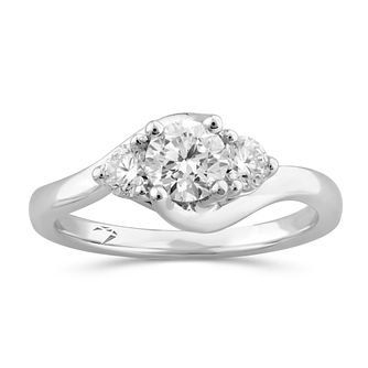 Arctic Light Platinum 3/4ct Diamond Three Stone Ring - Product number 5293693