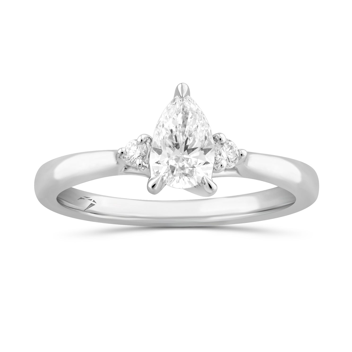 Arctic Light Platinum 0.55ct Pear Cut Diamond Solitaire Ring - Product number 5294061