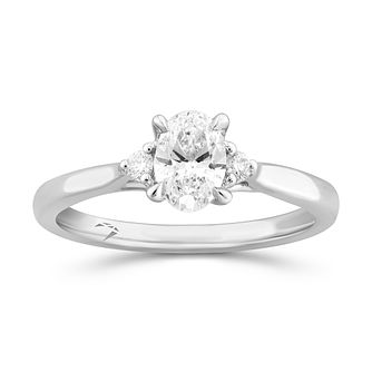 Arctic Light Platinum 0.55ct Oval Cut Diamond Solitaire Ring - Product number 5294703