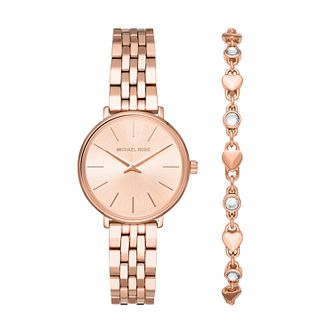 Michael Kors Pyper Ladies' Rose Gold Tone Watch Gift Set - Product number 5295483
