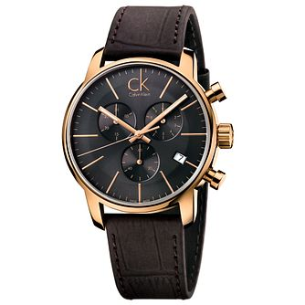 Calvin Klein City Men's Chronograph Leather Strap Watch - Product number 5295963