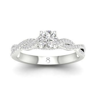 The Diamond Story 18ct White Gold 0.60ct Total Diamond Ring - Product number 5296900