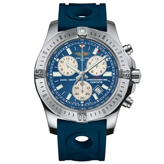 Breitling Colt Men's Chronograph Blue Rubber Strap Watch - Product number 5297702