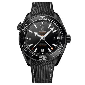 Omega Planet Ocean Deep Black Men's Rubber Strap Watch - Product number 5297761